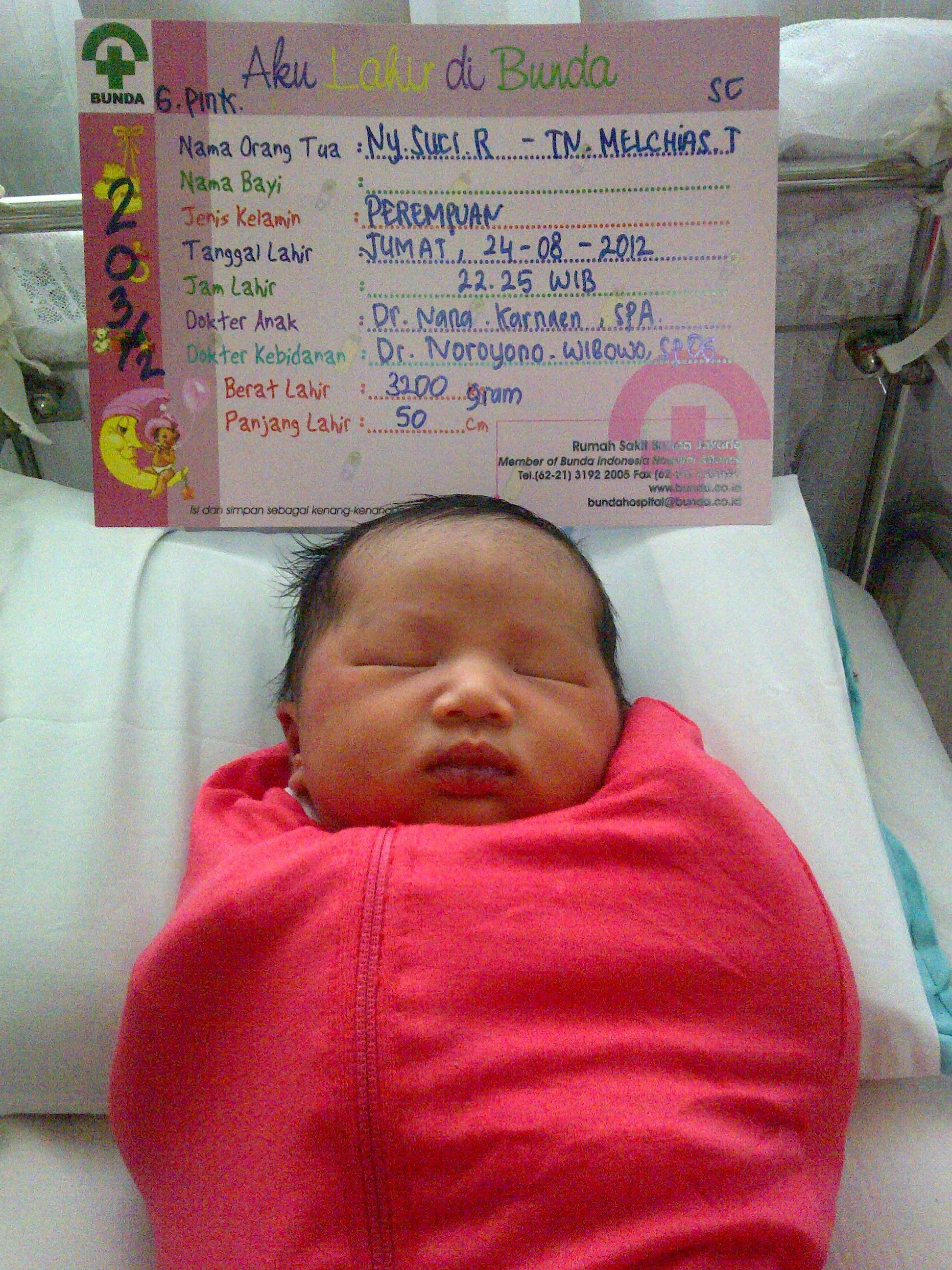 Welcoming My Baby Girl Tentang AkuGarinBarra Sarah